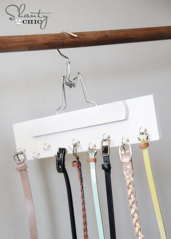 DIY Belt Hanger
