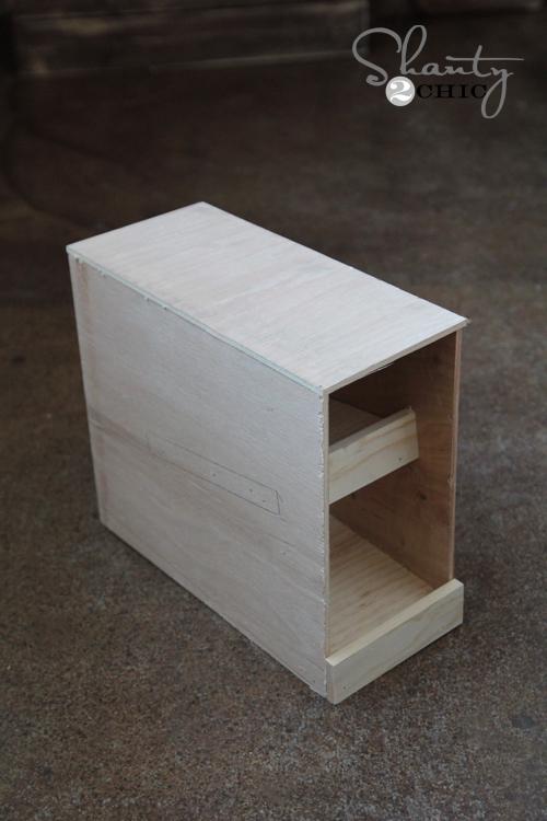 wood can organizer diy