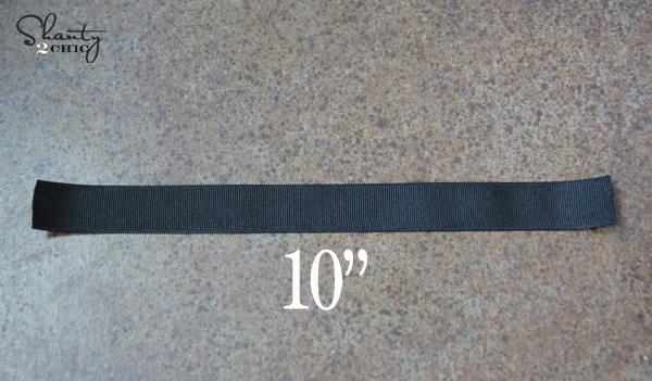 DIY Shoe Clip ribbon