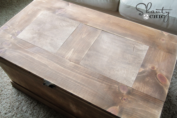 Top of trunk table