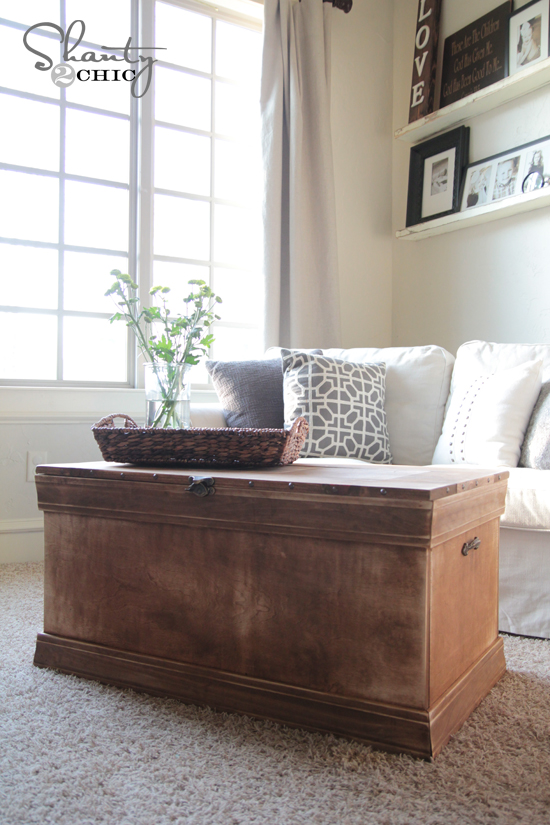 pottery barn inspired chest coffee