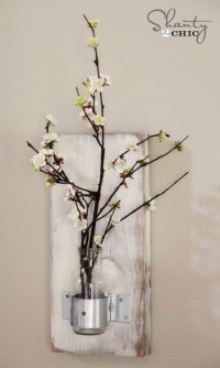 Glass Bottle Wall Vase - Shanty 2 Chic