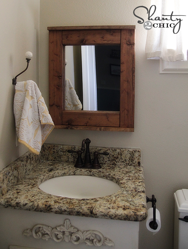 Bathroom Mirror DIY
