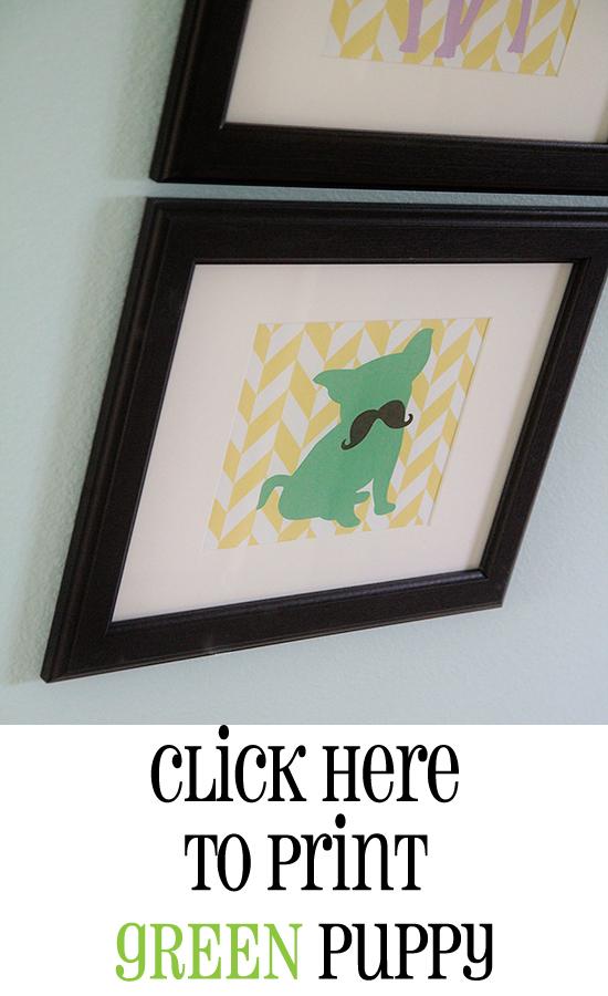 Print Green Puppy
