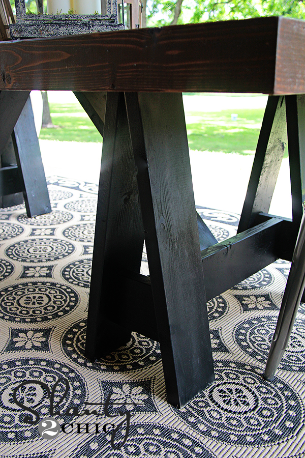 Sawhorse Dining Table