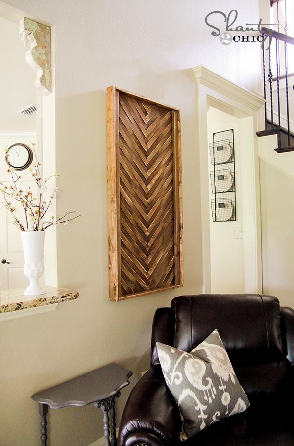 Wall Art DIY with Wood Shims