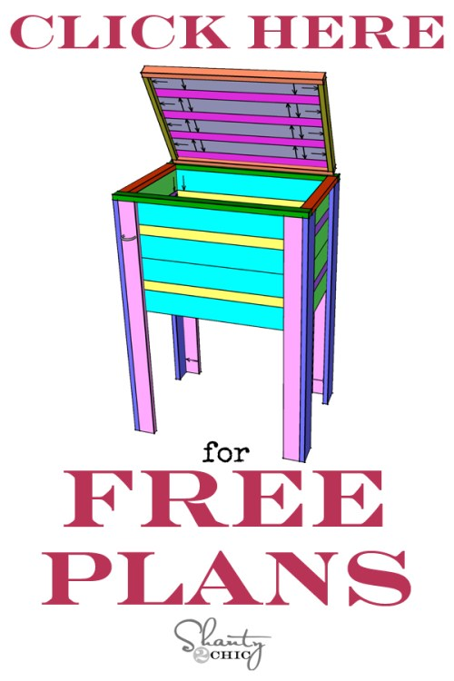 DIY Cooler Free Plans