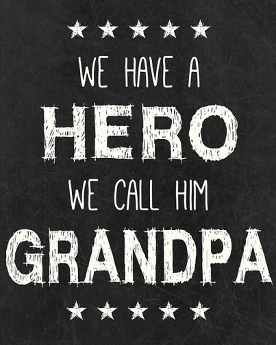 Grandpa Hero Free Printable
