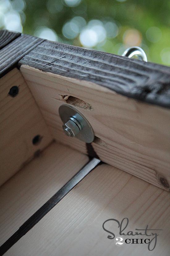 Hang a porch swing