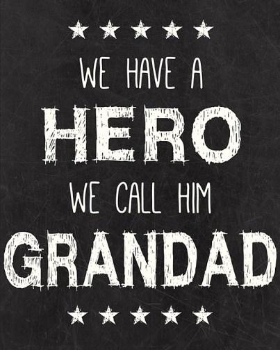 Hero Grandad Printable
