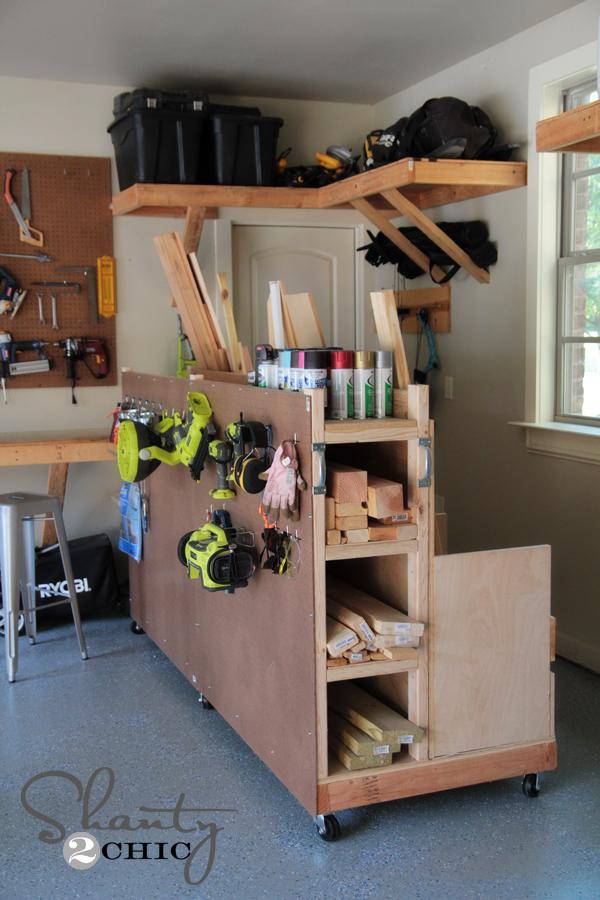 Garage Storage Lumber Cart