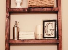 How to make a Hanging Bathroom Shelf for only $10 ...