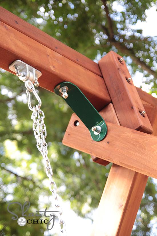 Tree Frogs Wooden SwingSets