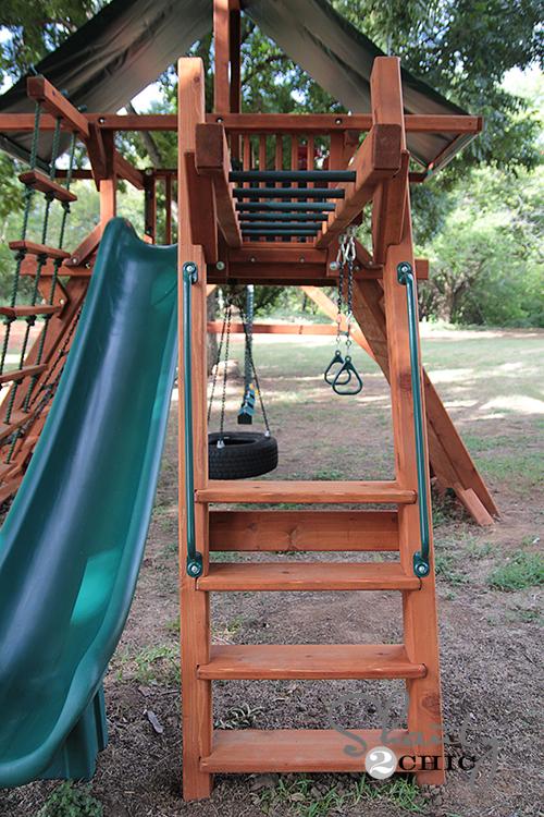 Wood Swing Set Monkey Bars