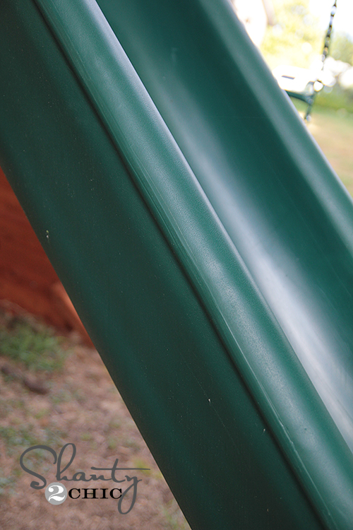 Wooden Swingset with Slide