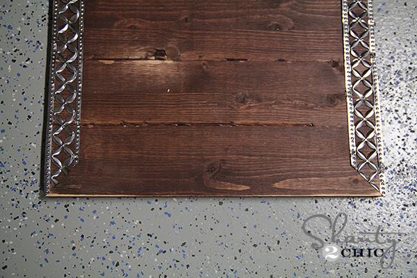 DIY Frame with Metal Ribbon