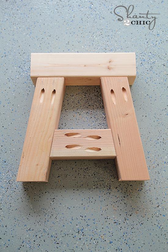 Base of DIY Bench