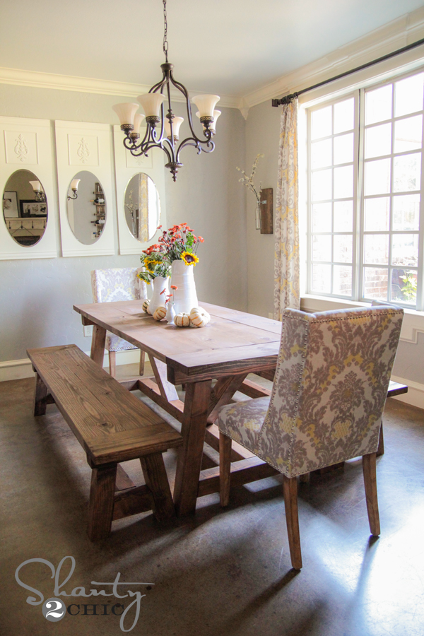 Stupendous Diy 40 Bench For The Dining Table Shanty 2 Chic Machost Co Dining Chair Design Ideas Machostcouk