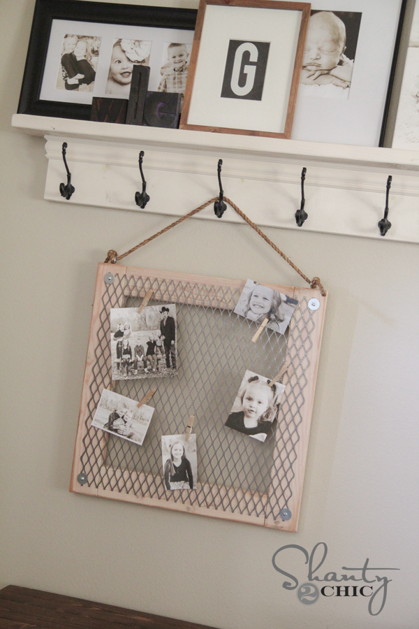 DIY Memo Board with Metal