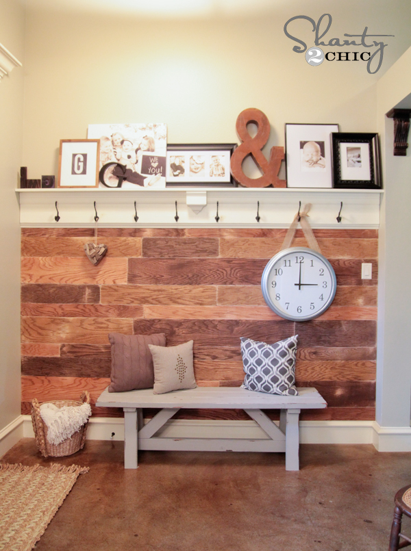 DIY Plank Wall by Shanty2Chic