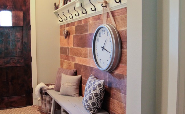Diy Shelf For The Entryway With Hooks Shanty 2 Chic
