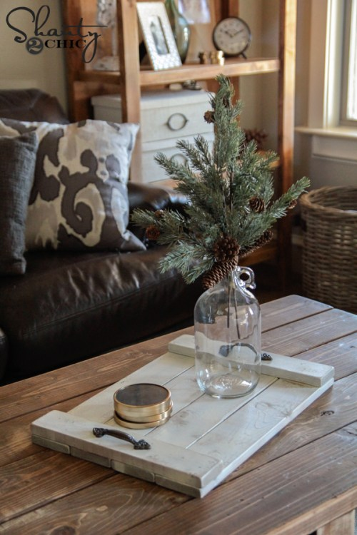 DIY Wood Tray for the Coffee Table