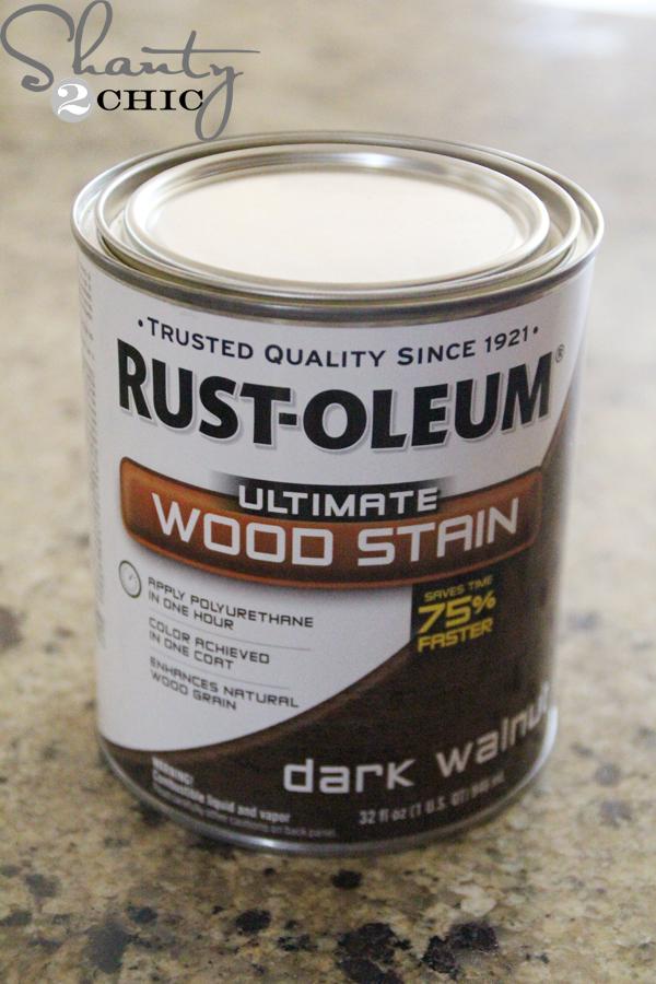 diy blanket ladder - Rustoleum_Dark_Walnut