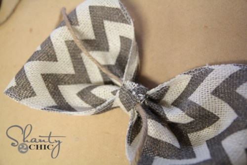 Chevron Burlap Bow Step 4