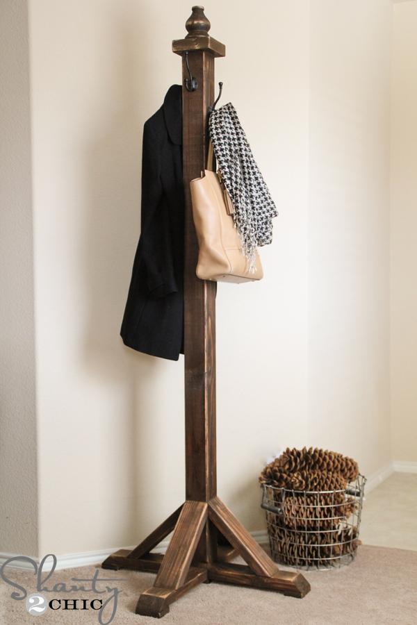 plans to build a coat rack  furnitureplans