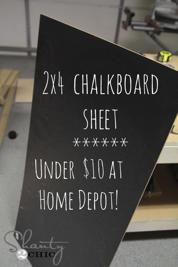 Chalkboard Easel Diy Shanty 2 Chic