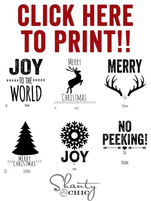 Print Free Tags
