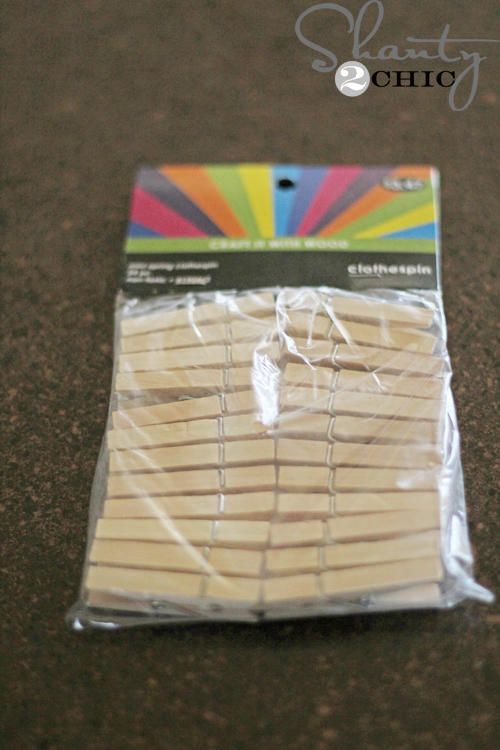 wood-clothespins