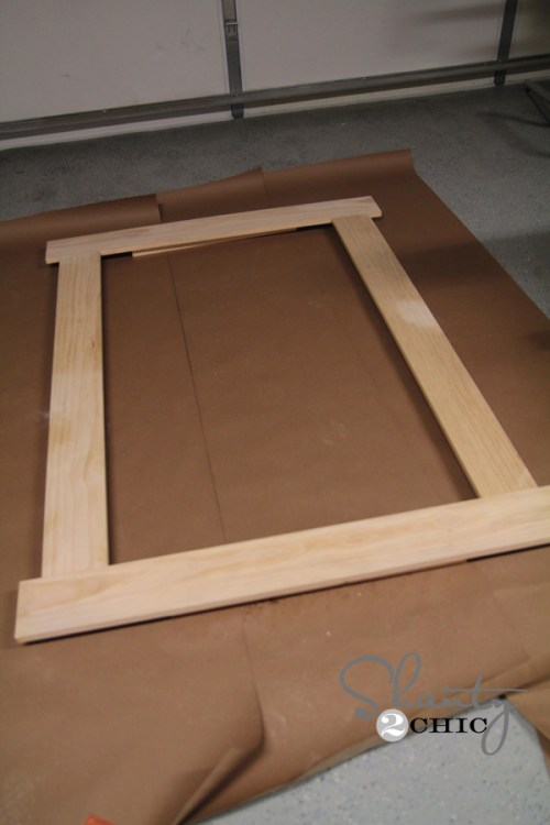 Build a framed chalkboard for the wall