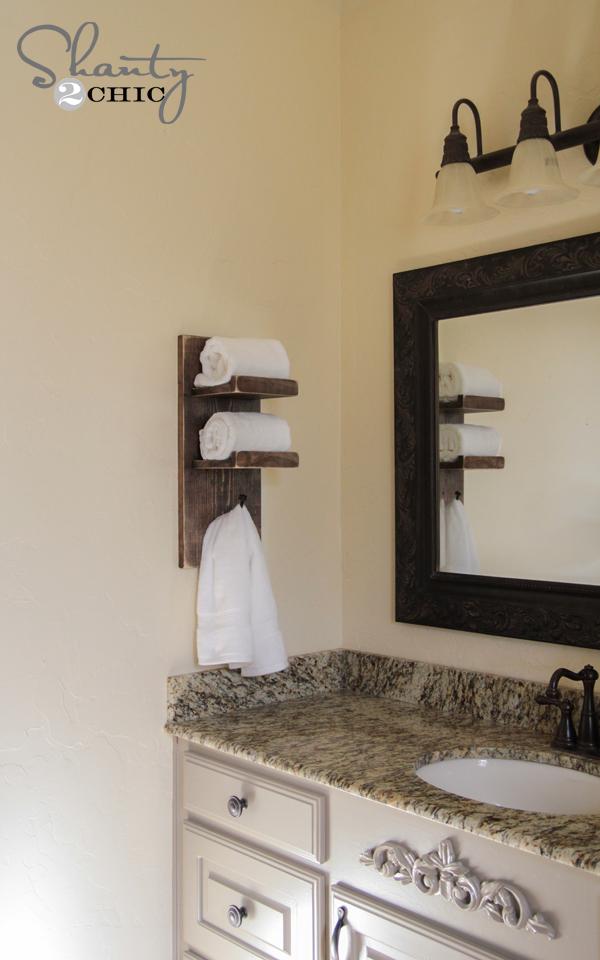 Shanty 2 Chic & Super Cute DIY Towel Holder! - Shanty 2 Chic
