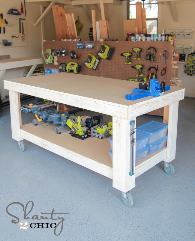 New Year... New Workbench Baby! - Shanty 2 Chic on diy wire ideas, diy lockers ideas, diy bicycle ideas, diy cupboard ideas, diy theme ideas, diy lights ideas, diy garage ideas, diy bucket ideas, diy workbench on wheels, diy workbench plans, diy garage workbench, diy hardware ideas, diy workbench organization, homemade tool storage ideas, diy workbench vise, diy wood workbench, workshop ideas, diy workbench drawings, diy build a workbench, diy sand ideas,