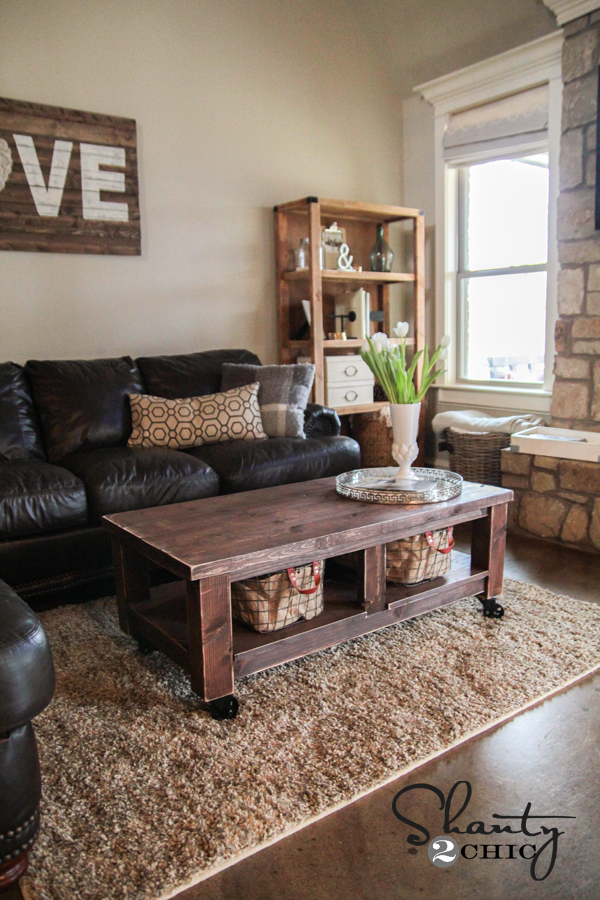 Wondrous Pottery Barn Knockoff Coffee Table Shanty 2 Chic Beatyapartments Chair Design Images Beatyapartmentscom