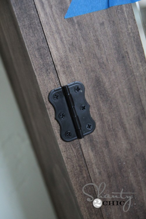 Cute furniture hinge from Home Depot