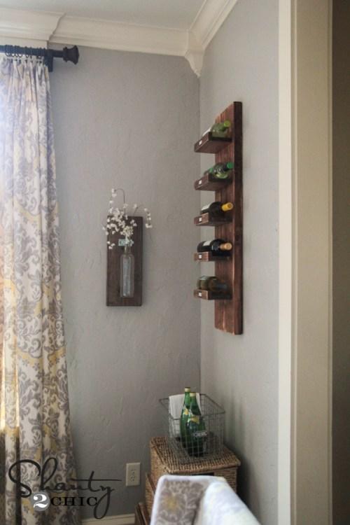 DIY Wood Wine Rack