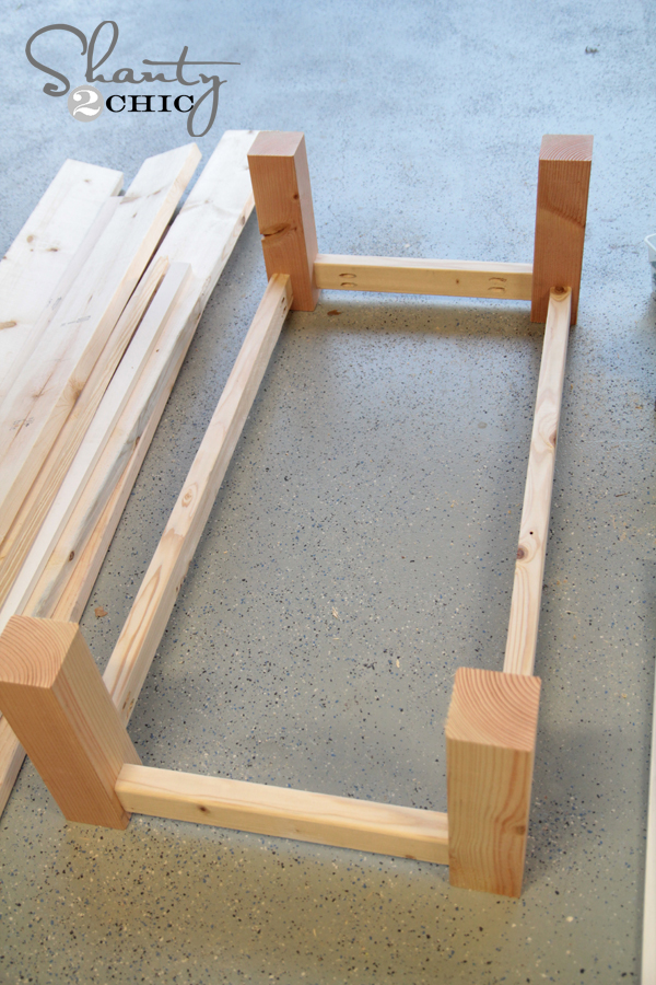 how to build a rectangle coffee table