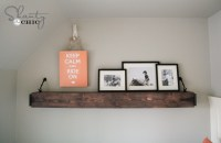 DIY Floating Rustic Shelf or Mantle! - Shanty 2 Chic