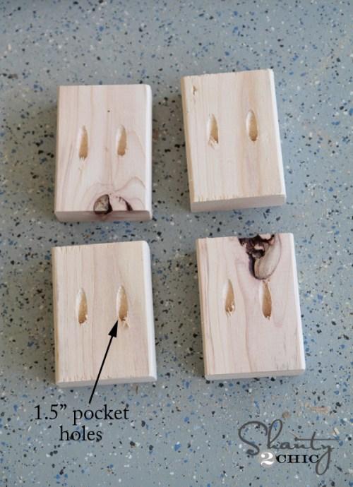 pocket holes for floating shelf