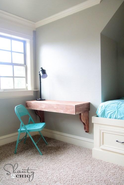 DIY Corbel Desk by Shanty 2 Chic