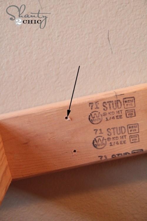 Predrilled holes for desk