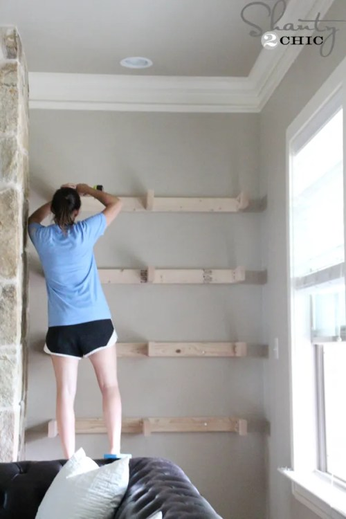 ashley-installing-shelves