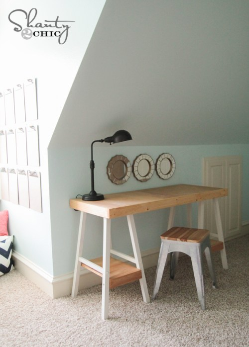 Barstool Desk DIY