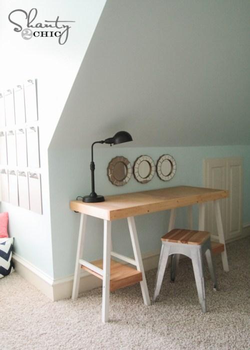 Barstool Desk DIY