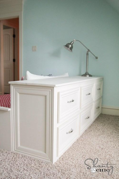 DIY Dresser Bed Side View