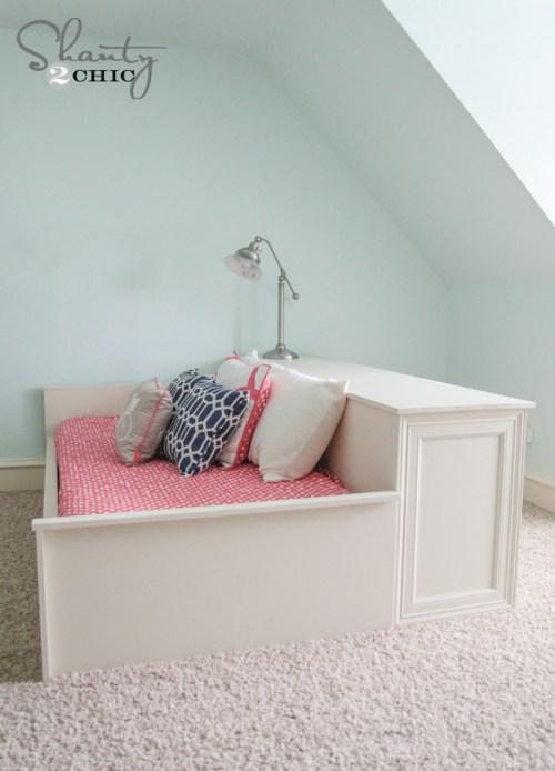 DIY Platform Dresser Bed