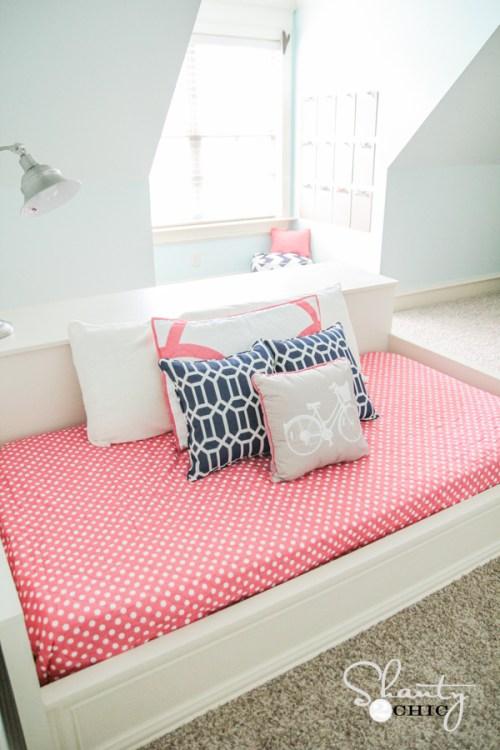 DIY Twin Platform Dresser Bed