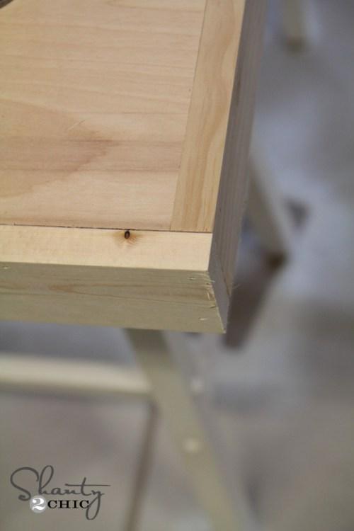 Trim out barstool desk